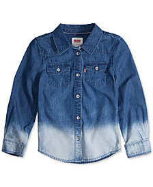 Levi's® Little Girls Cotton Denim Western Shirt