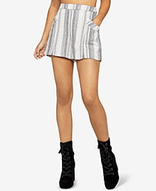 BCBGeneration Split-Hem Striped Shorts
