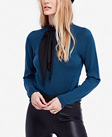 Free People Needle and Thread Ruffled Mock-Neck Sweater