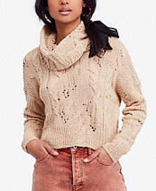 Free People Cropped Open-Knit Sweater