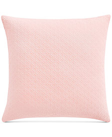 "Charter Club Damask Designs Diamond Dot Cotton 300-Thread Count 18"" x 18"" Decorative Pillow, Created for Macy's"