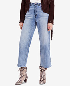 Free People Wales Cropped Wide-Leg Jeans