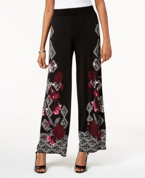 Vintage High Waisted Trousers, Sailor Pants, Jeans Alfani Printed Palazzo Pants Created for Macys $44.63 AT vintagedancer.com
