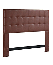 Andez Headboard, Full/Queen, Vintage Faux Leather
