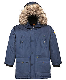 MICHAEL Michael Kors Big Boys Hooded Coat with Faux-Fur Trim