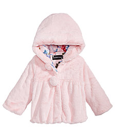 S. Rothschild Toddler Girls Hooded Teddy Plush Faux-Fur Jacket