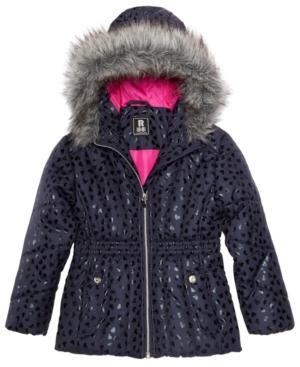 S Rothschild Toddler Girls Foil Print Puffer Jacket