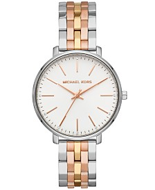 Michael Kors Women's Pyper Tri-Tone Stainless Steel Bracelet Watch 38mm