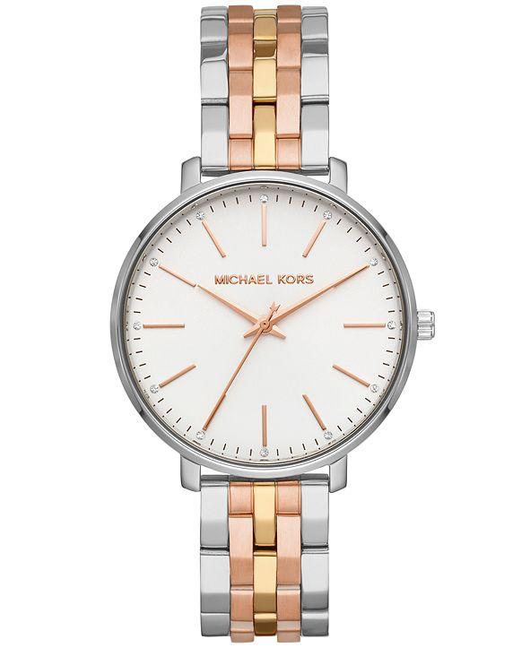Michael Kors Women's Pyper Tri-Tone Stainless Steel Bracelet Watch 38mm