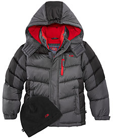 CB Sports Hooded Puffer Coat, Toddler Boys