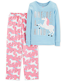 Carter's Little & Big Girls 2-Pc. Unicorn Pajama Set