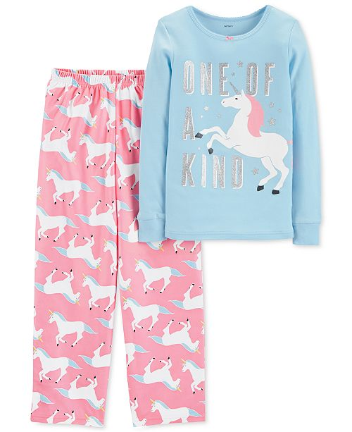 8f61bcdc8269 Carter s Little   Big Girls 2-Pc. Unicorn Pajama Set   Reviews ...