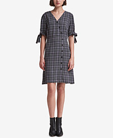 DKNY Plaid Shirtdress, Created for Macy's