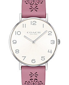 COACH Women's Perry Blush Leather Strap Watch 36mm, Created for Macy's