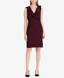 Lauren Ralph Lauren Ruffled V-Neck Dress