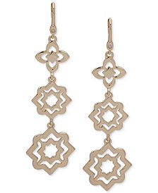 Ivanka Trump Gold-Tone Cut-Out Drop Earrings