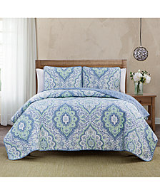 Keeco Diane Reversible 3-Pc. Full/Queen Quilt Set