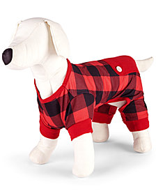 Matching Family Pajamas Buffalo Check Pet Pajamas, Created for Macy's
