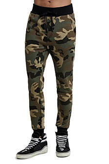 True Religion Men's  Big T Camo Slim Sweatpant