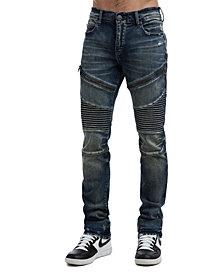 True Religion Men's Rocco Classic Moto Jeans