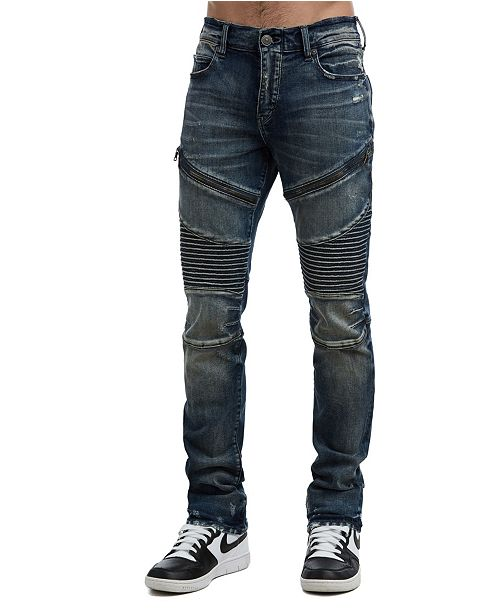 d7488999 True Religion Men's Rocco Classic Moto Jeans & Reviews - Men - Macy's