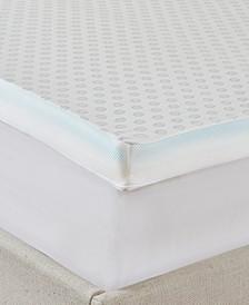 "Flexapedic by Sleep Philosophy All Seasons 3"" Cooling-to-warming Reversible Memory Foam Mattress Topper"