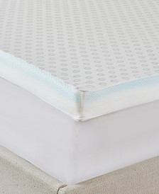 "JLA Home Flexapedic by Sleep Philosophy All Seasons 3"" Cooling-to-warming Reversible Memory Foam Mattress Topper"