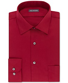 Men's Classic/Regular Fit Stretch Wrinkle Free Sateen Dress Shirt