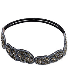 Deepa Gunmetal-Tone Embellished Stretch Headband