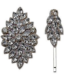 Deepa 2-Pc. Set Gold-Tone Rhinestone Clip & Hair Pin