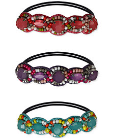 Deepa 3-Pc. Set Multicolored Beaded Hair Ties
