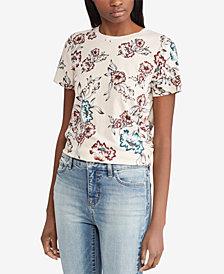 Lauren Ralph Lauren Floral-Print Cotton T-Shirt