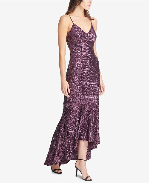 6e97d160 Vince Camuto High-Low Sequin Gown & Reviews - Dresses - Women - Macy's