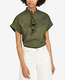 Lauren Ralph Lauren Ruffled Stretch Top