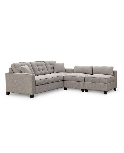 Clarke Ii 93 Fabric Estate Sofa With Two Storage Armless Chairs Created For Macy S