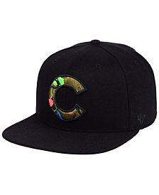 '47 Brand Chicago Cubs Camfill Neon Snapback Cap