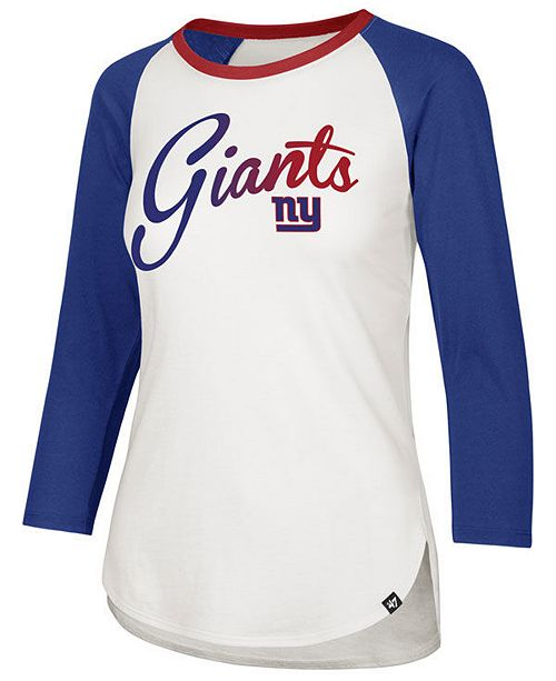 47 Brand Women's New York Giants Splitter Ombre Raglan T Shirt