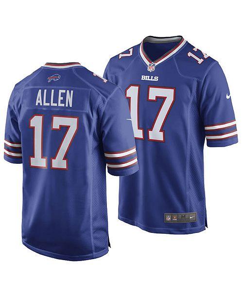 new concept f43df 44c93 Men's Josh Allen Buffalo Bills Game Jersey