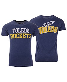 Retro Brand Men's Toledo Rockets Team Stacked Dual Blend T-Shirt