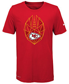 Nike Kansas City Chiefs Football Icon T-Shirt, Big Boys (8-20)