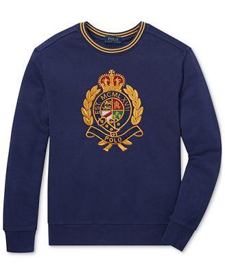 Polo Ralph Lauren Big Boys Cotton Crest Sweatshirt Sweaters Kids