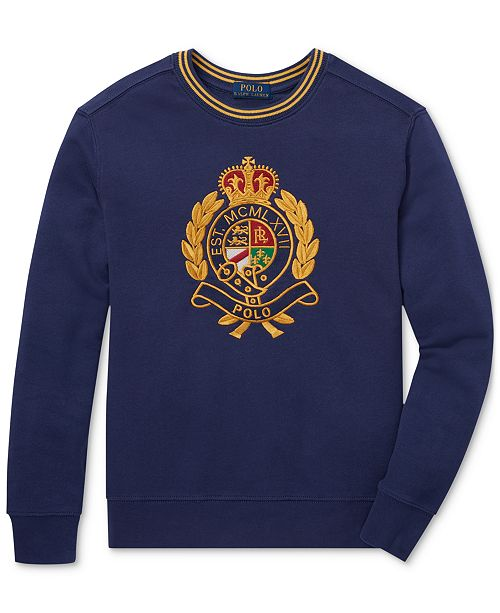 Polo Ralph Lauren. Big Boys Cotton Crest Sweatshirt. 2 reviews. main image   main image ... e37a384f09b1