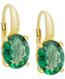 Green Quartz Drop Earrings (4-3/4 ct. t.w.) in 14k Gold-Plated Sterling Silver
