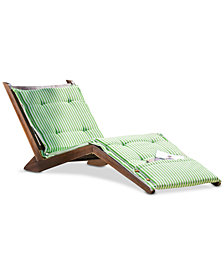 Sheerin Wood Folding Lounger, Quick Ship