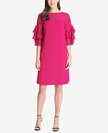 Vince Camuto Ruffle-Sleeve Sheath Dress