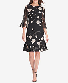 Jessica Howard Petite Bell-Sleeve A-Line Dress