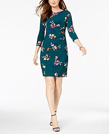 Jessica Howard Petite Floral-Print Sheath Dress