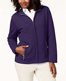 Quilted Fleece Zip Jacket, Created for Macy's