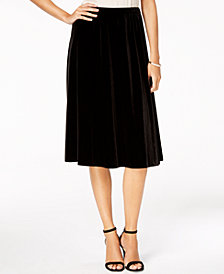 Alex Evenings Petite A-Line Midi Skirt