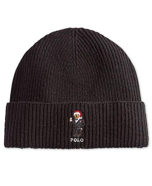 Polo Ralph Lauren Men s Polo Bear Cuffed Hat - All Accessories - Men ... 95d89abb16e